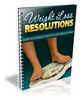 Thumbnail Weight Loss Resolutions - MRR E-book