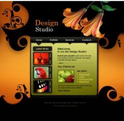Product picture 12 FLASH CUSTOMIZABLE GRAPHICS DESIGN STUDIO WEBSITES