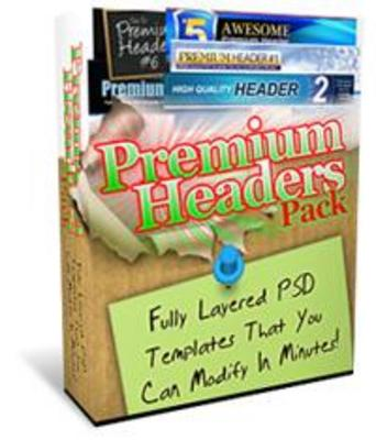 Product picture 25 Premium Header Pack - Fully Layered PSD Templates - MRR