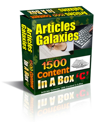 Product picture Articles Galaxies - 1500 Articles In A Box  PLR