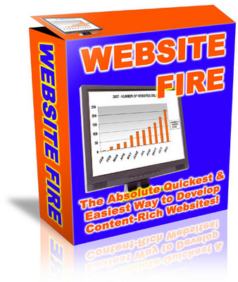 Product picture Website Fire Software - Create Content Websites Easily