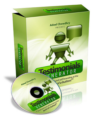 Product picture Testimonials Generator Software