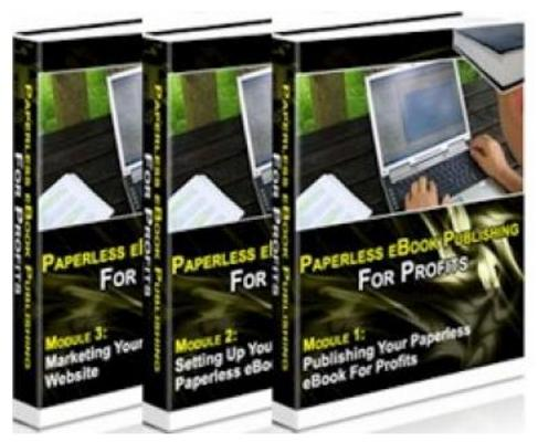 Product picture Paperless E-Book Publishing For Profits - MRR