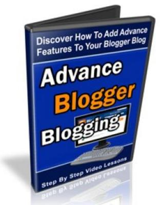 Product picture Advanced Blogger Blogging