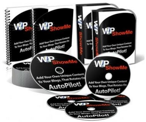 Product picture WP ShowMe WordPress Plugin PLR